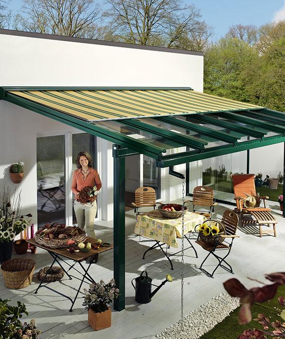 Dach szklany z markizą MURANO INTEGRALE